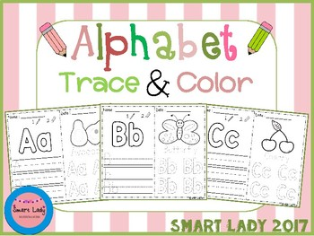 FREE Alphabet Trace and Color (Set 3)