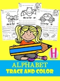 FREE Alphabet Trace and Color set 1