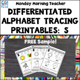FREE Alphabet Tracing & Writing Printables, letter  S, JOLLY PHONICS fine motor