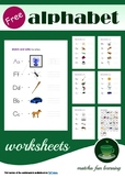 FREE Alphabet Worksheet on Letter Writing and Recognition