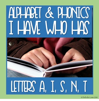 FREE Alphabet and Phonics I Have Who Has for A, S, I, N, T