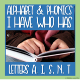 FREE Alphabet/Phonics Distance Learning I Have Who Has: A,