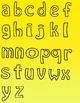 Alphabet Letters Clipart - Black