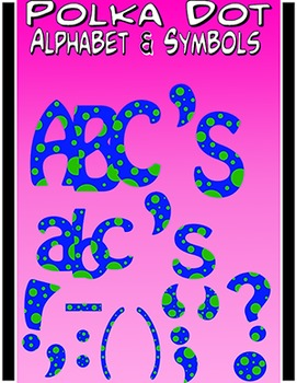 Alphabet Letters Clipart - Polka Dot