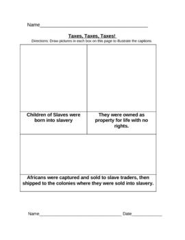 FREE: American Colonies (13 Colonies / U.S. Colonies) Worksheets