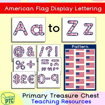 FREE American Flag themed Display Lettering