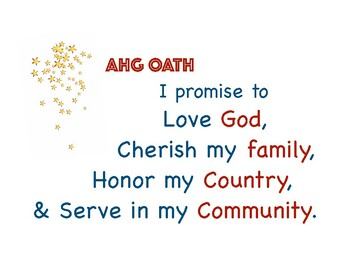 FREE American Heritage Girls Oath and Creed Posters