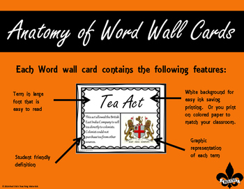 FREE American History Word Wall Sampler