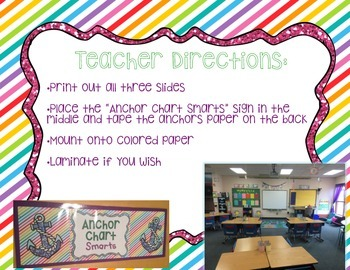{FREE} Anchor Chart Sign