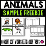 FREE Animal Classification Worksheets and Clip Tasks
