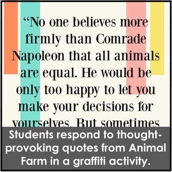 FREE Animal Farm Editable Calendar and Quote Graffiti Activity