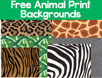 FREE Animal Print Background Graphics