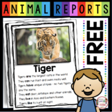 FREE Zoo Animals Research Report - Tiger Reports - Nonfiction Read and Writing