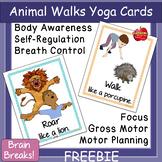 FREE Animal-Themed Yoga Cards: Self-Regulation, Brain Breaks, Gross Motor