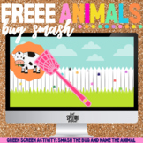 FREE Animal Vocabulary Fly Swat Green Screen Activity PREVIEW| Speech Therapy