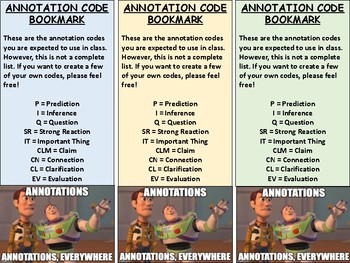 FREE Annotation Bookmarks