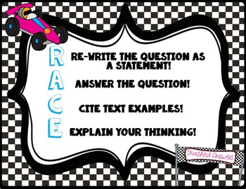 RACE (Rewrite, Answer, Cite, Explain) Question Answering Anchor Chart