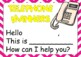 FREE Answering the Classroom Phone Editable Posters
