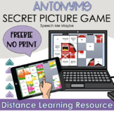 FREE Antonym Secret Picture Game - Digital Speech Therapy