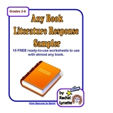 FREE Any Book Literature Sampler - 14 Printable Pages!