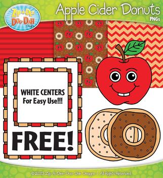 FREE Apple Cider Donuts Clipart & Papers Set {Zip-A-Dee-Doo-Dah Designs}