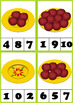 FREE Apples Count Clip Cards
