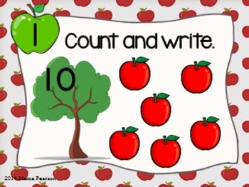 FREE Apple Counting Task Cards