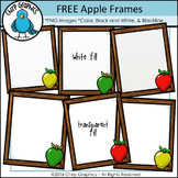 FREE Apple Frames Clip Art Set - Chirp Graphics