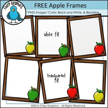 FREE Apple Frames Clip Art Set - Chirp Graphics
