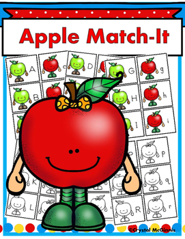 FREE Apple Match-It Alphabet Center