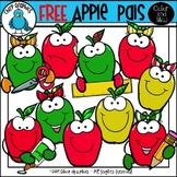 FREE Apple Pals Clip Art Set - Chirp Graphics