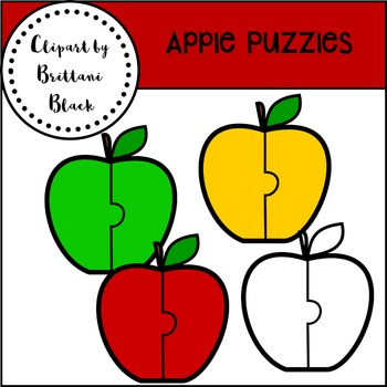 FREE Apple Puzzles Clipart