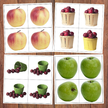 FREE Apple Same & Different Cards