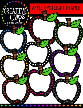 FREE Apple Spotlight Frames {Creative Clips Digital Clipart}