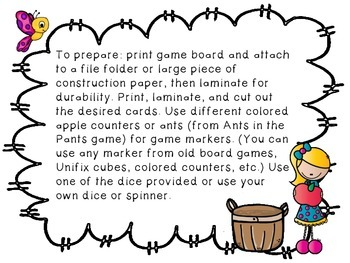 FREE Apple Themed Numeral Recognition Game and Recording Sheet