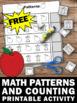 FREE Preschool or Kindergarten Math Counting Worksheet, Apple Theme