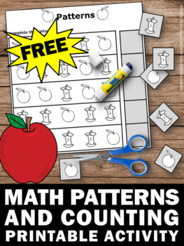 Free Preschool Or Kindergarten Math Counting Worksheet Apple Theme