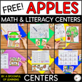 FREE Apples Math and Literacy Centers! Aligned to the CC