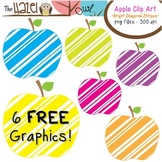 FREE Apples Set: Clip Art Graphics for Teachers {Bright Di
