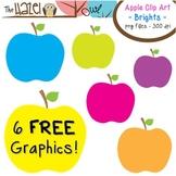 FREE Apples Set: Clip Art Graphics for Teachers {Brights}