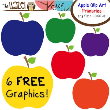 FREE Apples Set: Clip Art Graphics for Teachers {Primaries}
