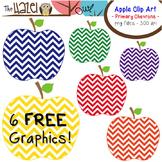 FREE Apples Set: Clip Art Graphics for Teachers {Primary Chevrons}