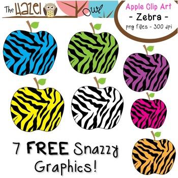 free apples set clip art graphics for teachers zebra print by the rh teacherspayteachers com zebra print frame clipart zebra print clip art black and white