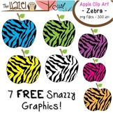FREE Apples Set: Clip Art Graphics for Teachers {Zebra Print}