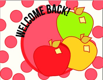 FREE!  Apples Welcome Back Postcard on Polka Dots