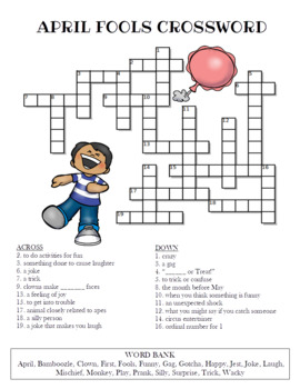 April Fool's Day Crossword Puzzle