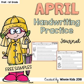 FREE April Handwriting Practice Journal