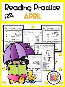 FREE April Reading Practice