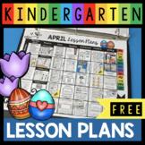 FREE April lesson plans for Kindergarten - Spring - Easter