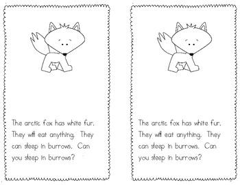 FREE Arctic Animal Emergent Reader